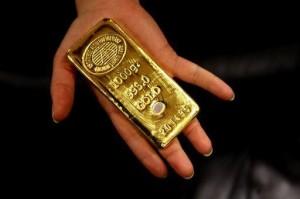 Un lingotto d'oro