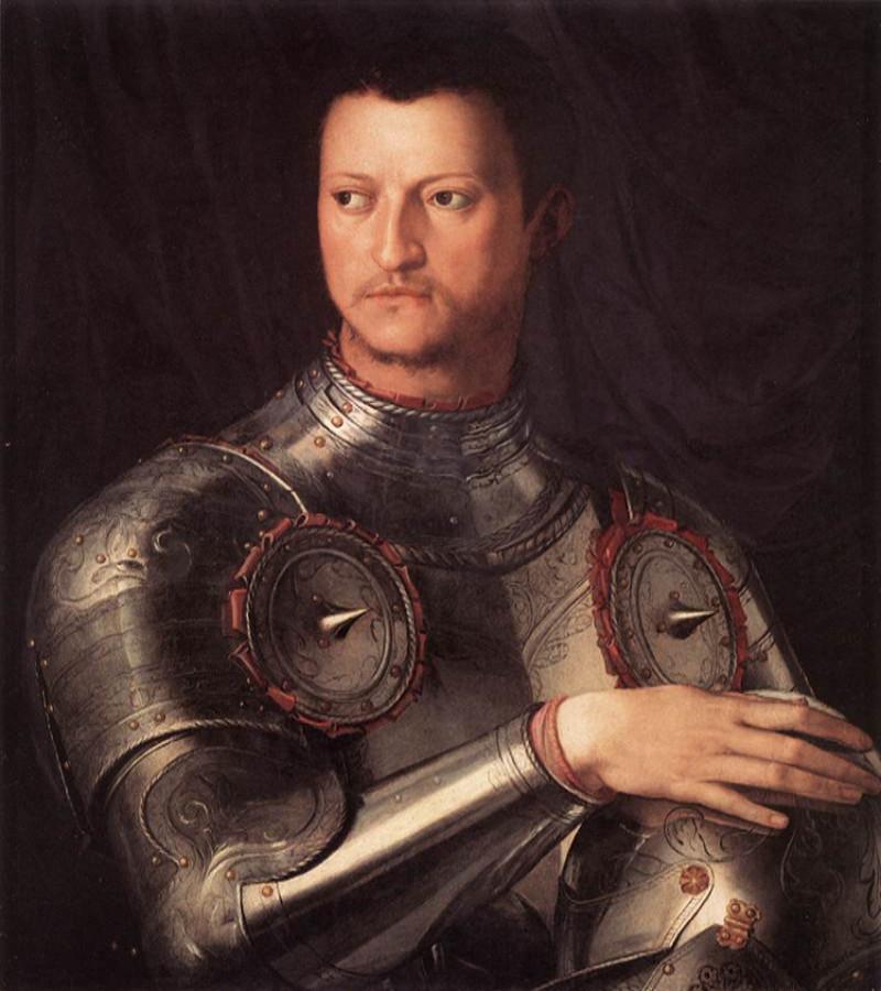 Cosimo I de' Medici, ritratto in armatura di Angelo Bronzino (1545)