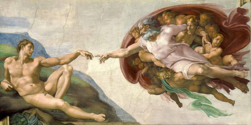 Michelangelo, la Creazione di Adamo