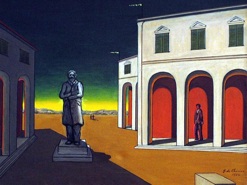 Piazza d'Italia con statua di Cavour