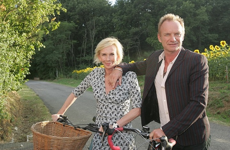 Sting e la moglie Trudie