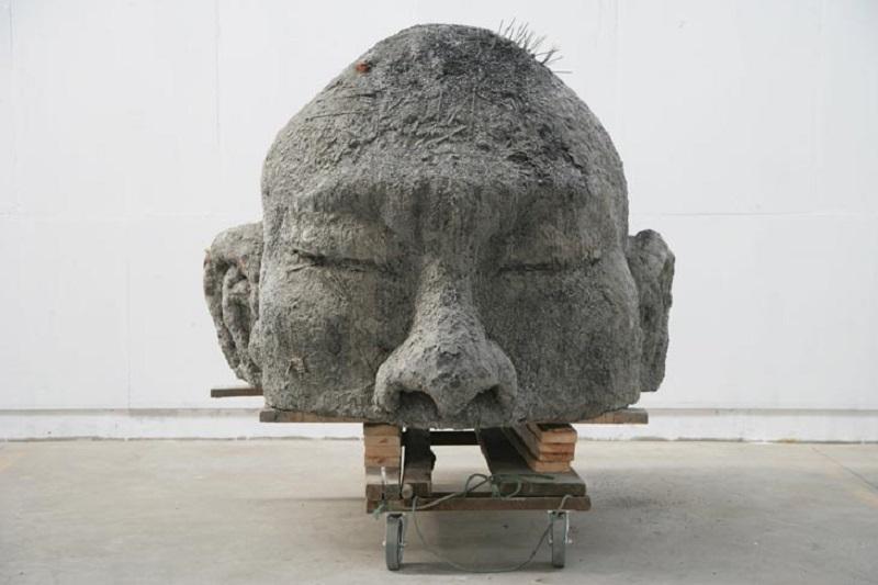 Un'opera di Zhang Huan