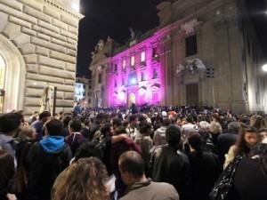 Palazzo strozzi by night
