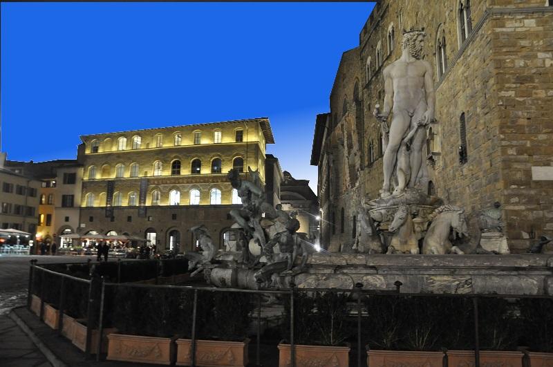 Vista sul Museo Gucci da Piazza Signoria