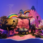"""Flaminia Veronesi """"Musica Indie. Suspension of disbilieve"""" Un paesaggio immaginario attraversato da animali in cartapesta grazie all'elaborazione di un    diorama. Omaggio al romanticismo di un nuovo genere musicale."""