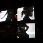 """Giorgio di Salvo """"Musica Tribale. Rhythm Study #1"""" 4 monitor, un unico ritmo musicale. E' la traduzione visiva della musica tribale, il suono delle percussioni. Il ritmo primordiale"""