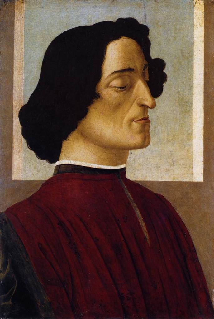Giuliano de' Medici ritratto dal Botticelli