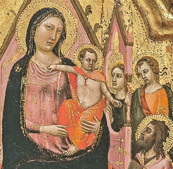 """Mostra """"Jacopo del Casentino e la pittura a Pratovecchio nel secolo di Giotto"""". Particolare del """"Trittico portatile"""", Galleria degli Uffizi"""
